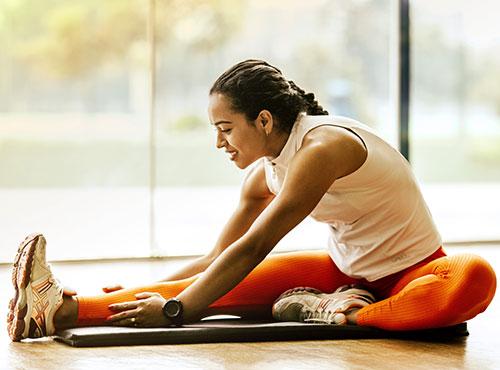 yoga houding op yogamat