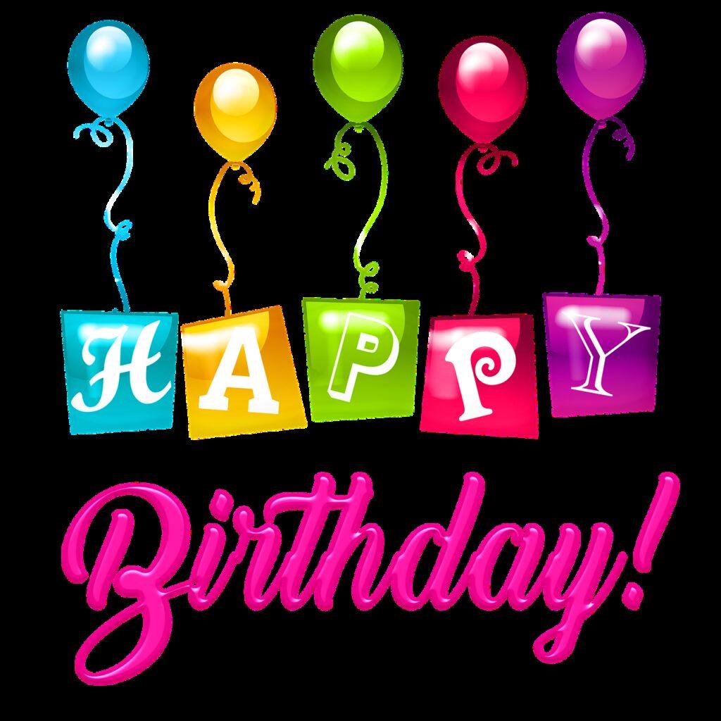 happy birthday balloons, plastic, happy birthday