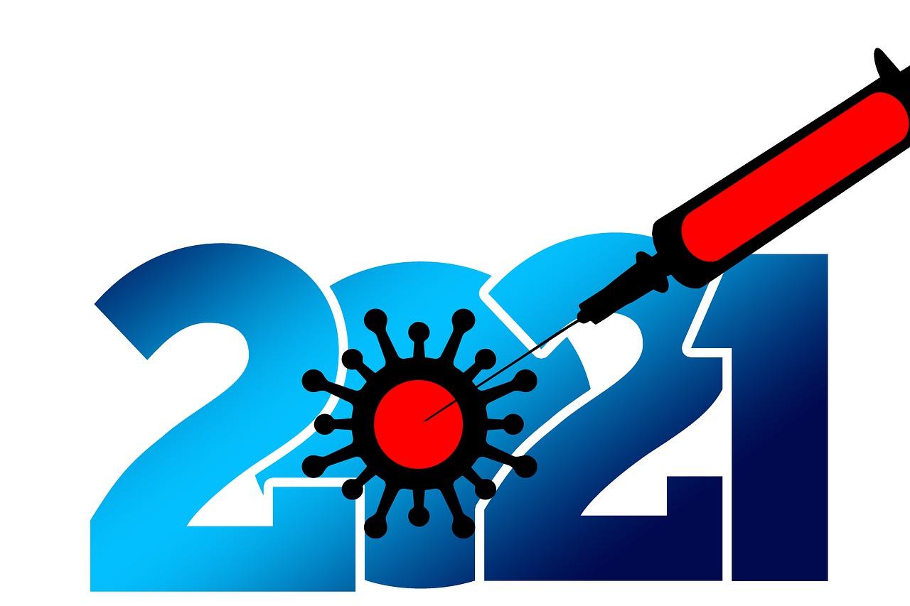 2021, injectiespuit in covid-19 cel